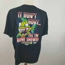 Piranaz Racing T Shirt Size 2XL It Don't Hurt..'Till The Bone Shows! 100% Cotton