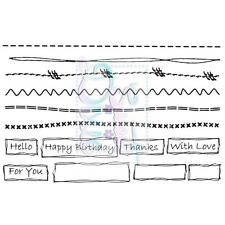 Sweet Dixie Clear Stamps Faux Stitch and Scribbles border sentiments sewing