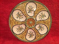 Antique Vintage Quimper Majolica Oyster Plate, op428