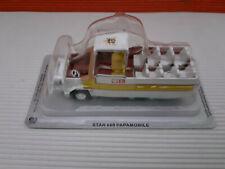 Modellino DIE CAST DeAgostini Auto Star 660 Papamobile Scala 1/43 Nuovo