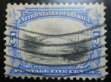 U.S. Stamp: Scott#297,  5c, Ultramarine & Blk, The Pan-American Expo., of 1901