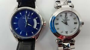 "Cabochon 7"" and Lucien Piccard Excalibur 9"" Wristwatches TT982"