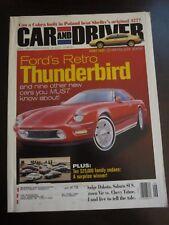 Car & Driver Magazine Ford Retro Thunderbird June 1998 (Z) BB O