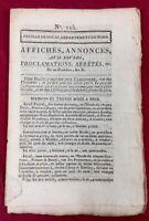 Saint Amand Les Eaux en 1802 Rare Journal Feuille de Douai Nord Église