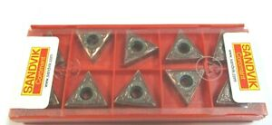 10 Sandvik Plaquettes Pour Tourner Tnmg 160404 Sf 1115 Neuf H39852