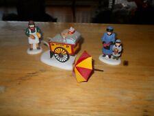 "Sale~Department 56 Heritage Village Collection ""Hot Dog Vendor� In Box~3 Pcs"