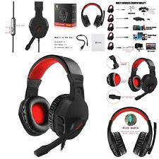Over Ear Gaming Headset With Mic Flexible Microphone Volume Control PS4 Laptop