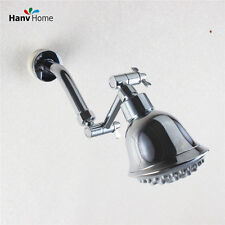 "4""  Brass Chrome Adjustable Height Shower Arm Extension +6 Function Shower Head"