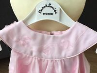 BNWT Girls Pink Special Occasion Dress by Sarah Louise Age 12m