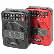 *  PORTABLE 20W VOICE AMPLIFIER, FM RADIO, MP3 PLAYER, CLOCK ALARM, TF / USB