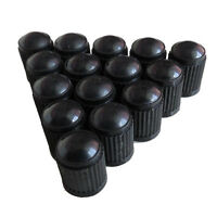 Car SUV Auto 50PCS Black Plastic Wheel Tire Valve Stem Caps Lid Air Dust Covers