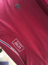Mens Armani Jeans Long Sleeved deep red pure  Cotton Top
