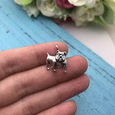 8pcs Dog Bulldog Charm Tibet silver Charms Pendants DIY Jewellery Making crafts