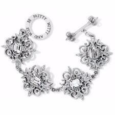 My Flat In London Brighton English Garden Crystal Silver Toggle Bracelet NWtag