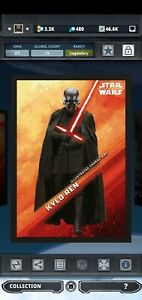 Topps Star Wars Card Trader Illustrated Character Kylo Ren 15 cc Legendary 54321