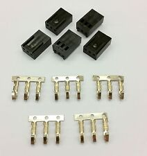 PK OF 5 - FEMALE 3 PIN FAN POWER CONNECTOR - BLACK INC PINS
