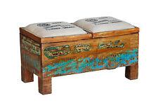 Sitztruhe Truhe Hocker Sitzbank Recyclingholz Massivholz Vintage Shabby Loft