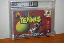 Mario Tennis (Nintendo 64 N64) NEW SEALED, MINT GOLD VGA 90, RARE HIGH GRADE!