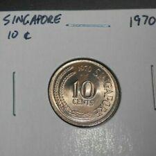 SINGAPORE 1970 10 CENTS UNC/BU COIN