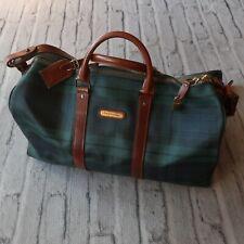 Vintage Polo Ralph Lauren Blackwatch Duffle Shoulder Bag Plaid Large Weekender