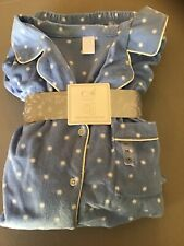 Adonna Pajama Set, XXL.  New, with tags.  Polyester Fleece.  Blue Polka-dots
