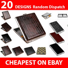 Cigarette Cases Elegant Metal Tin Holder Pocket Size Cigar Box Tobacco Storage
