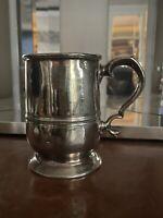 Fine Antique Polished Pewter Georgian Mug / Tankard