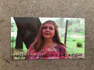 Carole Baskin Fridge Magnet, Cool cats and kitten. Tiger King