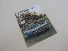 1977 Chevrolet Nova Original Factory Sales Brochure. 12 Pages