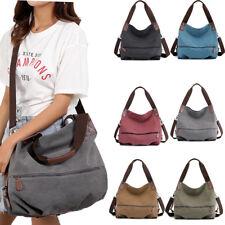 Womens Satchel Shoulder Bag Tote Messenger Cross Body Waterproof Canvas Handbag
