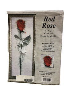 Design Works Crafts Red Rose Counted Cross Stitch Kit Marilyn Robertson 2424