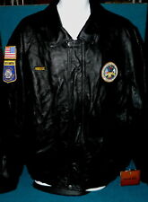 """South Dakota : US ARMY """"Boot Camp"""" LEATHER JACKET size XL @  Honor/Duty PATCH"""