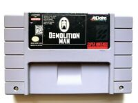 Demolition Man Super Nintendo SNES Game - Tested + Working & Authentic!