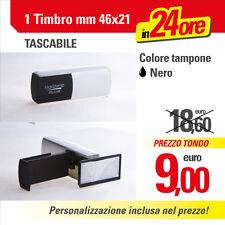 TIMBRO TASCABILE PORTATILE da VIAGGIO mm 46x21 - PERSONALIZZATO anche con Logo