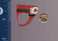 CALGARY FLAMES NHL Hockey Team Logo LAPEL METAL PIN