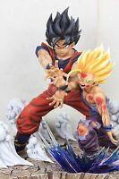 Dragonball Father-Son Goku Gohan Kamehameha Resin Statue Diorama Manga Ver. 2.0