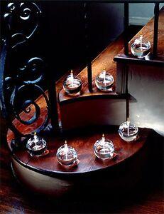FIRELIGHT GLASS OIL CANDLE - SONATA