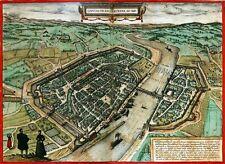 Reproduction plan ancien de Francfort sur le Main (Frankfurt am Main) 1572