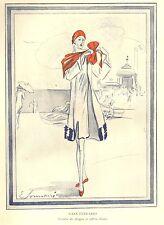 CASA FERRARIO 1926 FIGURINO MODA ANNI 20 COSTUME SPIAGGIA IN TAFFETAS E.SORMANI