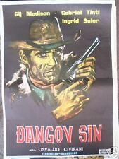 IL FIGLIO DI DJANGO-GUY MADISON-YUGO MOVIE POSTER 1967
