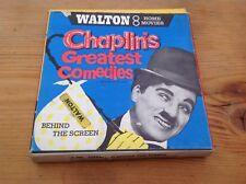 Vintage Super 8 mm Film CHARLIE CHAPLIN in BEHIND THE SCREEN WALTON HOME MOVIE