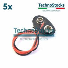 5X Connettori Batteria 9V Cavi 15cm  - Arduino Battery Connectors