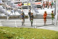 1/32 Slot Car Scenery 5 Unassembled Crowd Control Barriers Kit Scalextric Rally