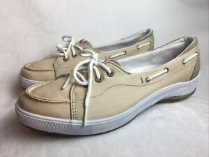 NEW Keds Women's Size 10 M (EU 41) Loafers Beige Tan Boat Shoes w/ Arch Support