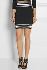 BALMAIN BLACK STRETCH MINI SKIRT FR 36 UK 8 US 4