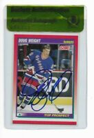 DOUG WEIGHT signed autographed 1991-92 SCORE ROOKIE CARD RC BECKETT (BAS)