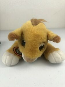 "17"" Vintage Simba Mattel Disney Plush Floppy The Lion King Stuffed 1993 New"