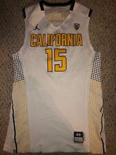2013-14 Jordan California Bears #15 Jordan Mathews Game Worn Basketball Jersey