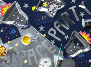 SPACE PARTY ACCESSORIES - SPACE THEMED TABLEWARE