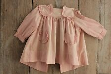 Pink Baby Dress Vintage French 1930's faded girl's